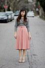 Heather-gray-skirt