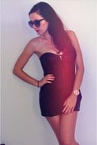 leather Zara dress