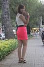 Hot-pink-neon-skirt-skirt