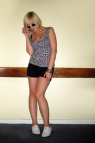 H&M top - Primark shorts - Office shoes - Camden Market sunglasses - dont know b