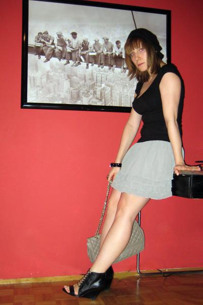 Primark hat - H&M top - H&M skirt - Marc B for Topshop accessories - Aldo shoes