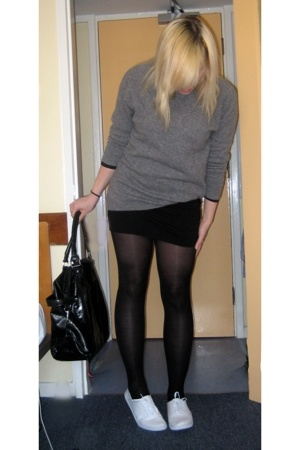 united colors of benetton sweater - American Apparel skirt - Primark tights - th