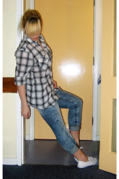 dads shirt - H&M jeans - Topshop shoes