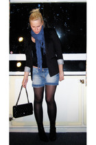 Chanel lambskin 255 accessories - Zara blazer - H&M t-shirt - H&M scarf - thrift