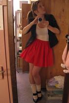 skirt - blazer - Gap Body top - socks