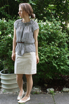 Zara blouse - belt - skirt - shoes