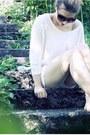 La-redoute-shorts-from-copenhagen-bianco-wedges-h-m-jumper