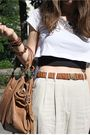 Beige-mango-pants-brown-zara-shoes-silver-ebay-necklace-white-from-austral