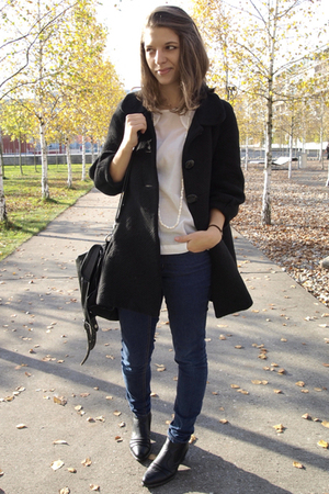H&amp;M Trend coat - H&amp;M Trend blouse - Cheap Monday jeans - Local shop shoes - from