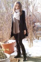 Topshop shorts - Zara top - H&M Trend blazer - Zara boots