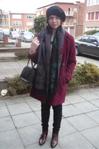 scarf - shoes - Kimchi Blue coat - jeans - no brand hat