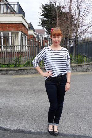 denim Awear jeans - cotton Zara t-shirt - leather Topshop flats