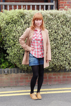 H&M coat - Primark shoes - Pull and Bear shorts - Topshop top