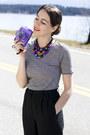 Violet-film-camera-holga-accessories-black-ann-taylor-pants