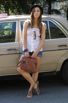 New Yorker bag - atlantis hat - Bershka top