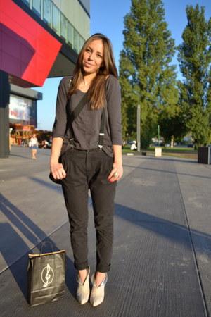 Eden heels - Mango pants - H&M blouse