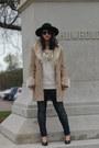 Thrifted-vintage-coat-rag-bone-jeans-black-h-m-hat-kokorokoko-sweater