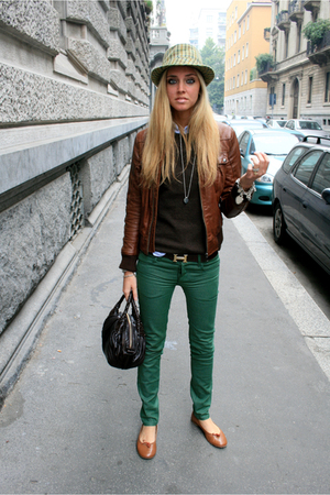 leather jacket - flats shoes - Cheap Monday jeans - Cachemire sweater