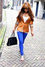 J-brand-jeans-bershka-blazer-mulberry-vontange-bag-vero-moda-top