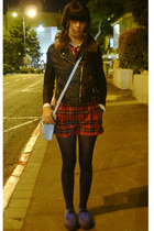 black denim jacket H&M jacket - blue tuk creepers Secondhand shoes