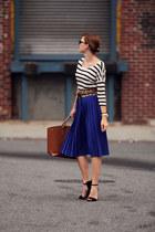 H&M blouse - Zara skirt - Mango belt