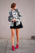 Zara blazer - Zara boots - Forever 21 blouse