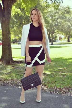 Hot Miami Styles skirt - Guess blazer - Chanel bag
