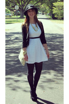 Betsey Jhonson hat - BLVD Shoes boots - Rag and Bone dress