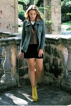 Pull and Bear jacket - Jeffrey Campbell boots - Zara shorts