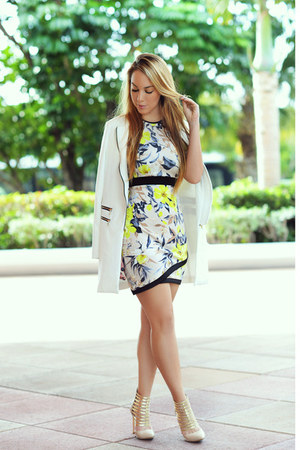 Missguided dress - Missguided coat - Cici Hot heels