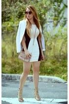 Marciano blazer - Hot Miami Styles dress - Rebecca Minkoff bag