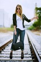 Chanel bag - Articles of Society jeans - She She Bon Bon shirt