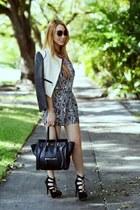 Sheinside jacket - Celine bag - Theclassicbrand jumper
