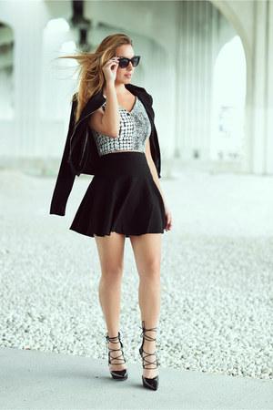 Mackage jacket - Nasty Gal skirt - Hot Miami Styles top