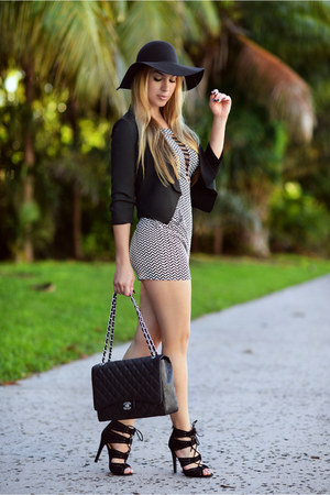 free people hat - Hot Miami Styles blazer - Chanel bag - Hot Miami Styles jumper