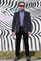 amethyst Tallia blazer - heather gray Kenneth Cole boots