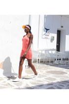white axel arigato sneakers - coral bodycon AX Paris dress