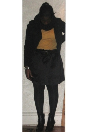 vintage jacket - Macys shirt - vintage belt - DIY skirt - payless shoes