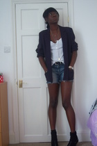 M&S blazer - H&M vest - new look shorts - Primark shoes