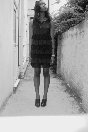 Dorothy Perkins dress - Dorothy Pekins shoes - River Island via thrifting jacket