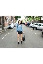 Ralph Lauren shirt - Topshop boots - Zadig&Voltaire bag - Malandrino skirt