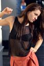 Black-mesh-selected-femme-top-red-harem-selected-femme-pants