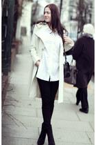 Montana Blu coat - wedge Zara boots - skinny Levis jeans