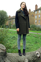 oversized wool Mango coat - black Topshop boots - Urban Outfitters jeans