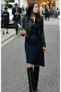 Black-fold-over-giuseppe-zanotti-boots-black-vintage-armani-dress