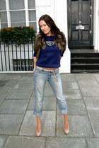 EDUN jacket - BCBG shoes - calvin klein jeans - asos sweatshirt