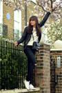 Black-ripped-skinny-maje-jeans-black-leather-all-saints-jacket