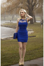 Blue-cobalt-bodycon-charlotte-russe-dress-blue-clutch-lulus-bag