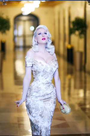 gold Pollypop bag - ivory The Pretty Dress Company dress