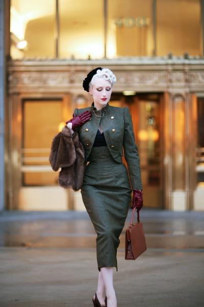 dark brown Royal Vintage shoes - dark brown Lady Jane Vintage bag